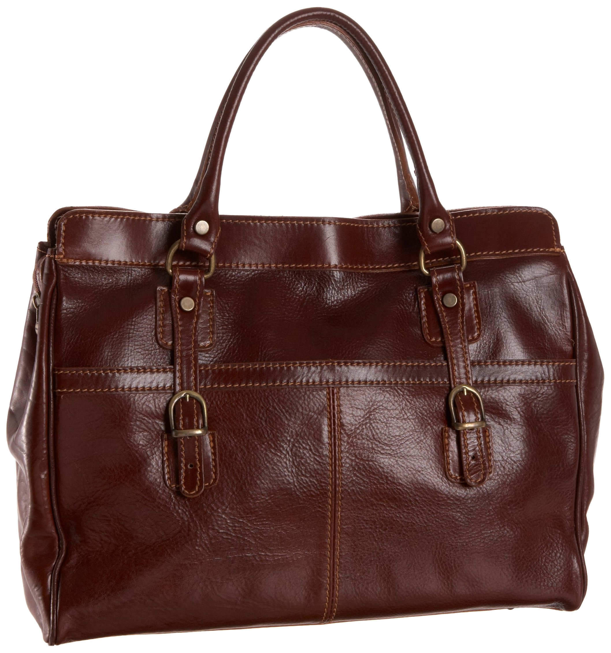Floto Casiana Mini Handbag, Vecchio Brown, One Size by Floto