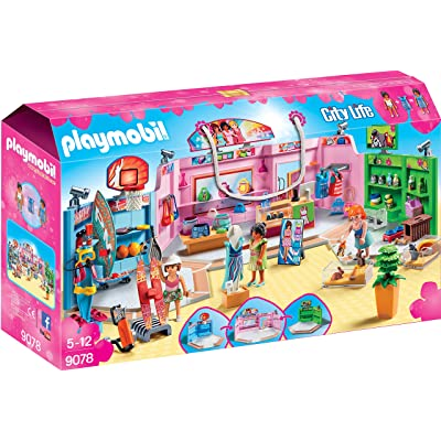 PLAYMOBIL Shopping Plaza Building Set: Toys & Games