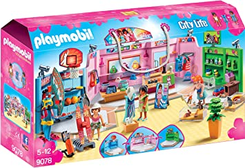 Playmobil 9078 City Life Shopping Plaza With Sports Pet And Clothing