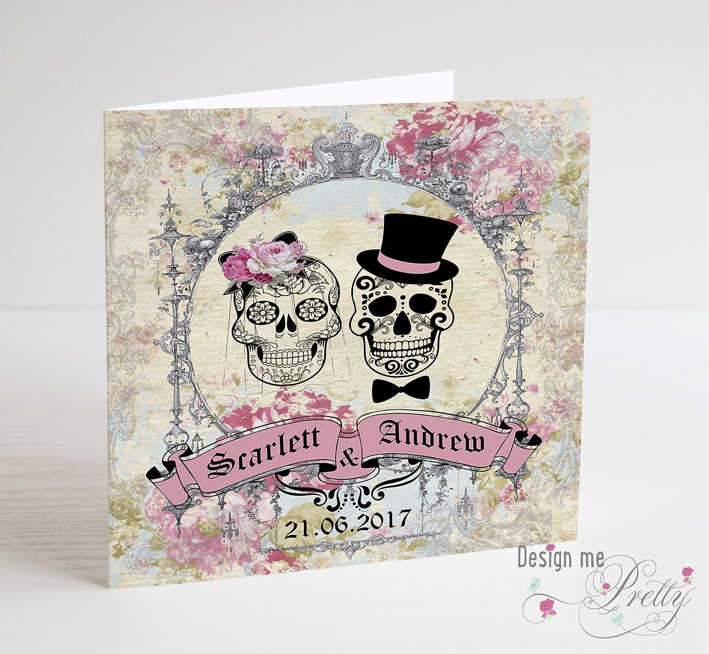 Sugar Skull Wedding Card - Vintage Day of the Dead