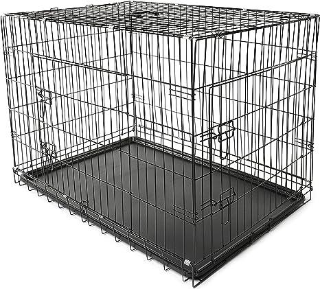 TRESKO® Jaula de Transporte Plegable para Perros (XXL 121 x 76 x ...