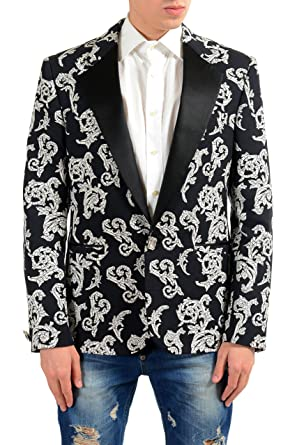 0215a76e0f Amazon.com: Versace Men's Silk Jacquard Blazer Sport Coat Size US 48 ...