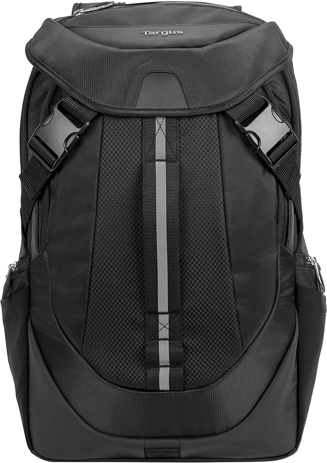 Targus Voyager II Travel and Commuter Business Backpack with Hideaway Rain Cover, Sternum & Waist Buckled Straps, Trolley Strap, Padded Shock-Absorbing Protection for 17.3-Inch Laptop, Black (TSB953GL)