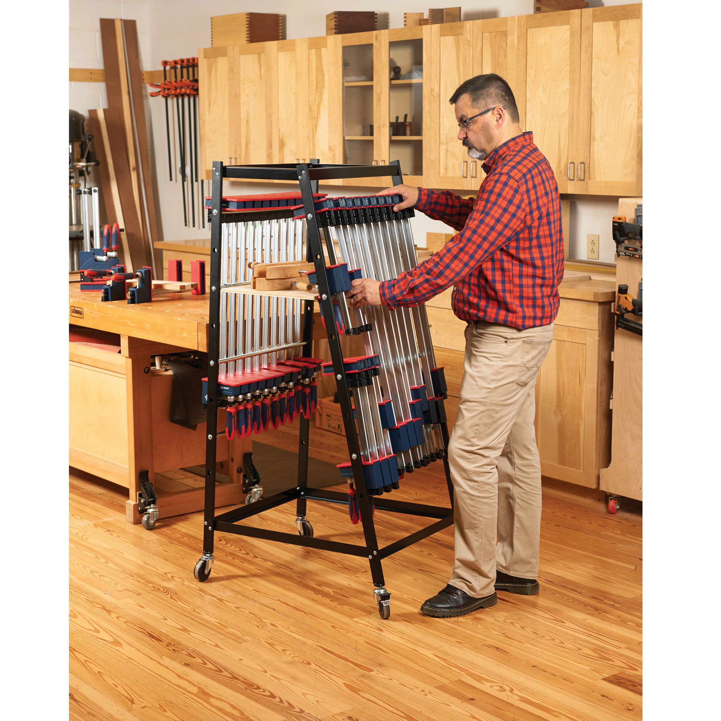 WoodRiver Mobile Clamp and Storage Rack by WoodRiver