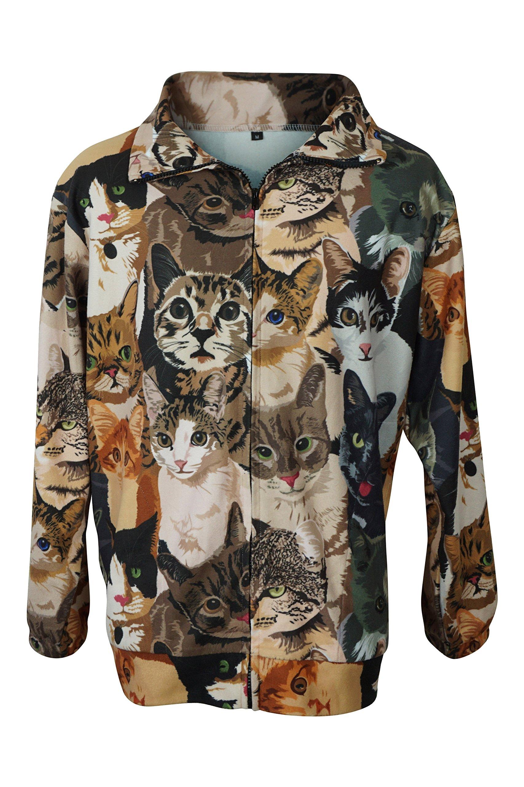 Fierce Fleece Feline Edition Unisex Lightweight Fleece Jacket Small by Fierce Fleece