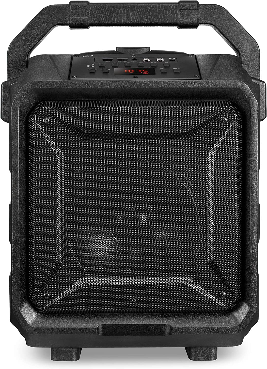 iLive ISB659B Wireless Tailgate Party Speaker, with Built-in Rechargeable Battery and Roller Wheels, Black