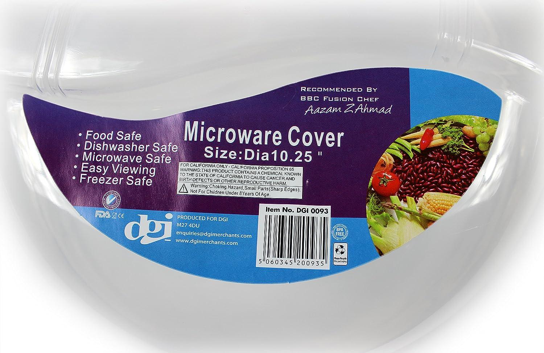 Nuevo microondas seguro ventilación alimentos plato plato plástico cubierta: Amazon.es