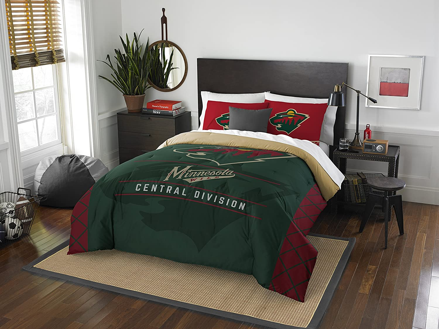 The Northwest Company Officially Licensed NHL Draft Comforter and 2 Sham Set, Multi Color, Multiple Sizes
