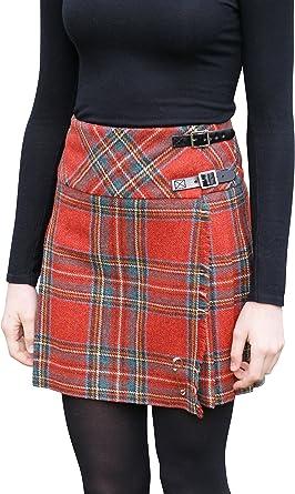 Glen Appin of Scotland - Falda - Falda Escocesa - para Mujer Rojo ...