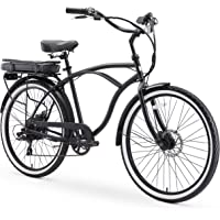 Sixthreezero Around The Block Mens Beach Cruiser Bicycle OR eBike 250W and 500W Electric Bike (24