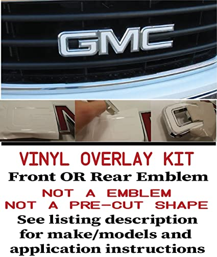 Amazon com: Oracal 751C vinyl_Shop Vinyl Design GMC Front or Rear