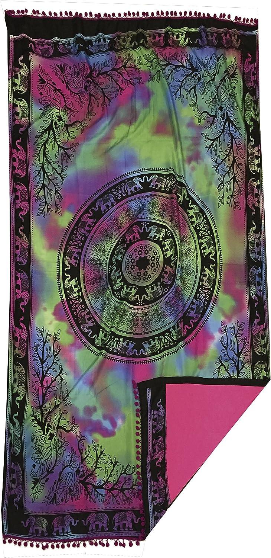 TEXTIL TARRAGO Toall pareo 95x170 cm mandala multicolor