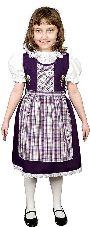 Schrammel - Vestido - traje tradicional alemán - para niña morado ...