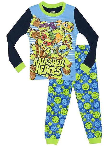 Las Tortugas Ninja - Pijama para Niños - Half Shell Heroes - Ajuste Ceñido