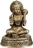 Lord Hanuman Granting Abhaya - Brass Statue