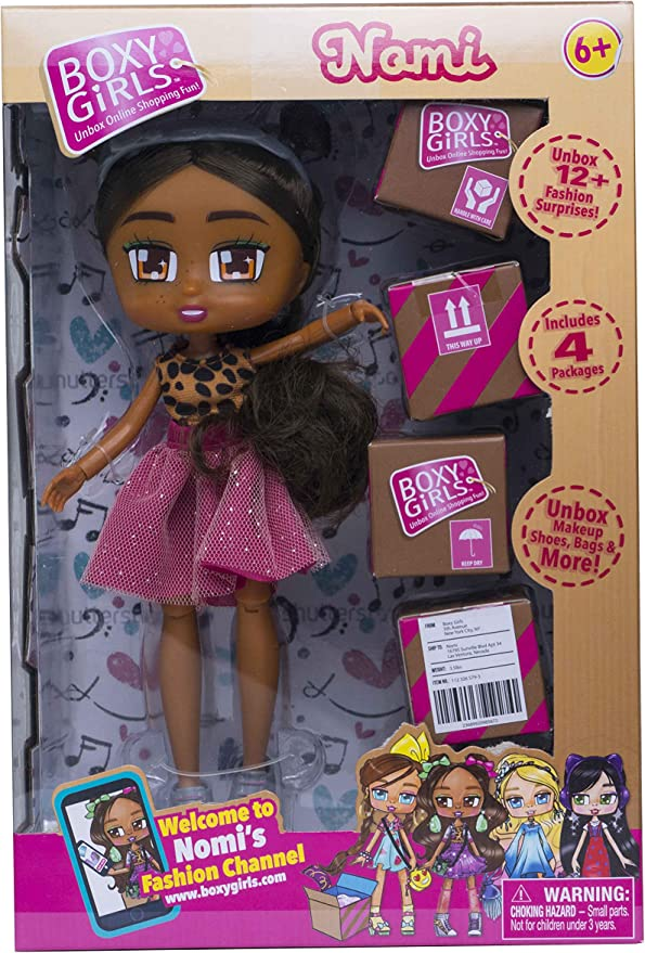 """BOXY Girls Nomi Fashion Doll 8/"""" Girl Doll with 4 packages//12 Surprises 2018"""