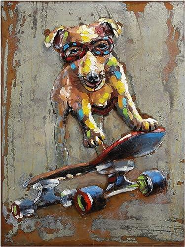 Empire Art Direct Dog on Skateboard Metal