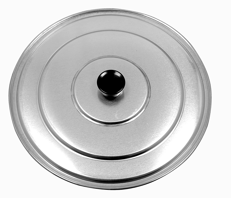 Paderno World Cuisine A4982188 Aluminum Paella Pan Lid, 13-3/8-Inch, Gray