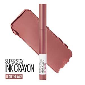 Maybelline SuperStay Ink Crayon Lipstick, Matte Longwear Lipstick Makeup, Lead The Way