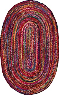 NuLoom Tammara Multi Oval 3u0027x5u0027 Braided Area Rug