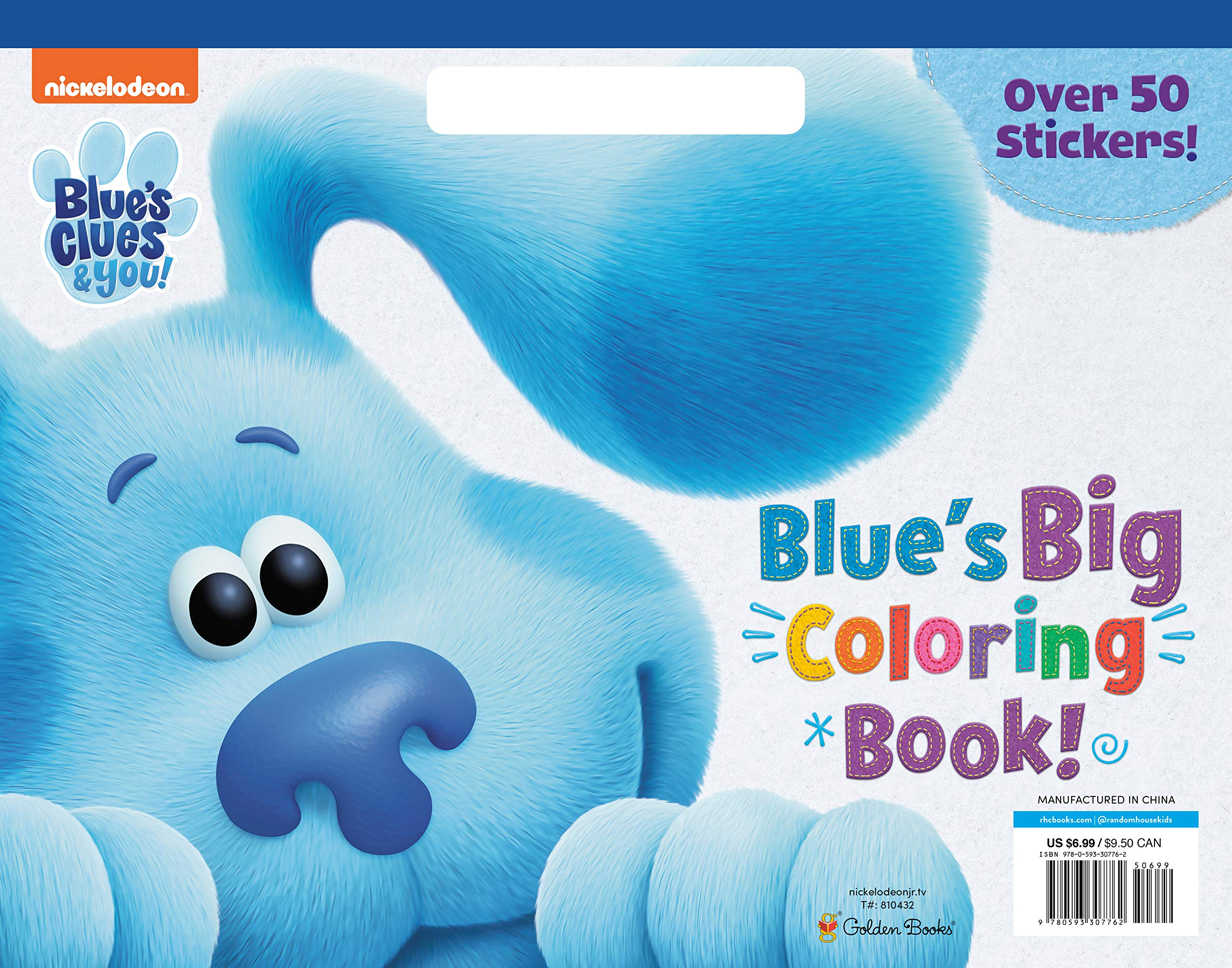 Blue S Big Coloring Book Blue S Clues You Golden Books Golden Books 9780593307762 Amazon Com Books