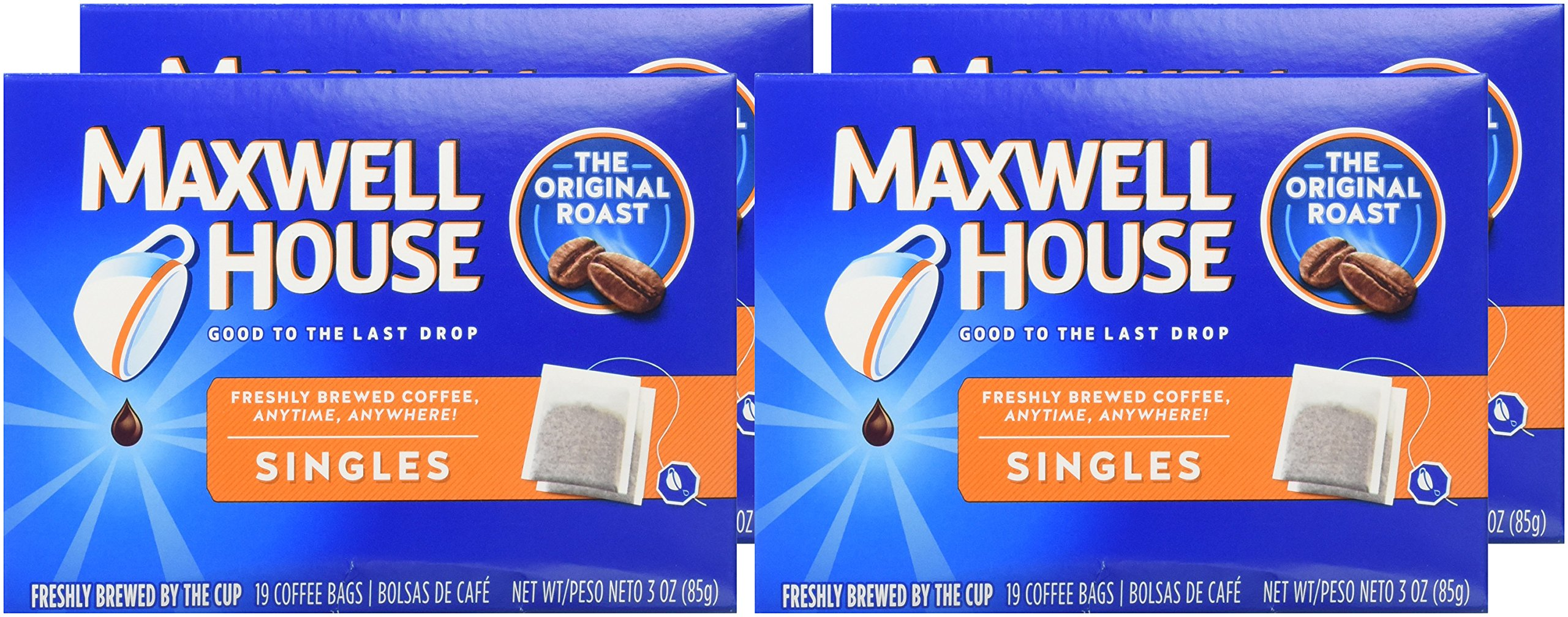 Maxwell House Original Roast Ground Coffee Single Serve Coffee Bags