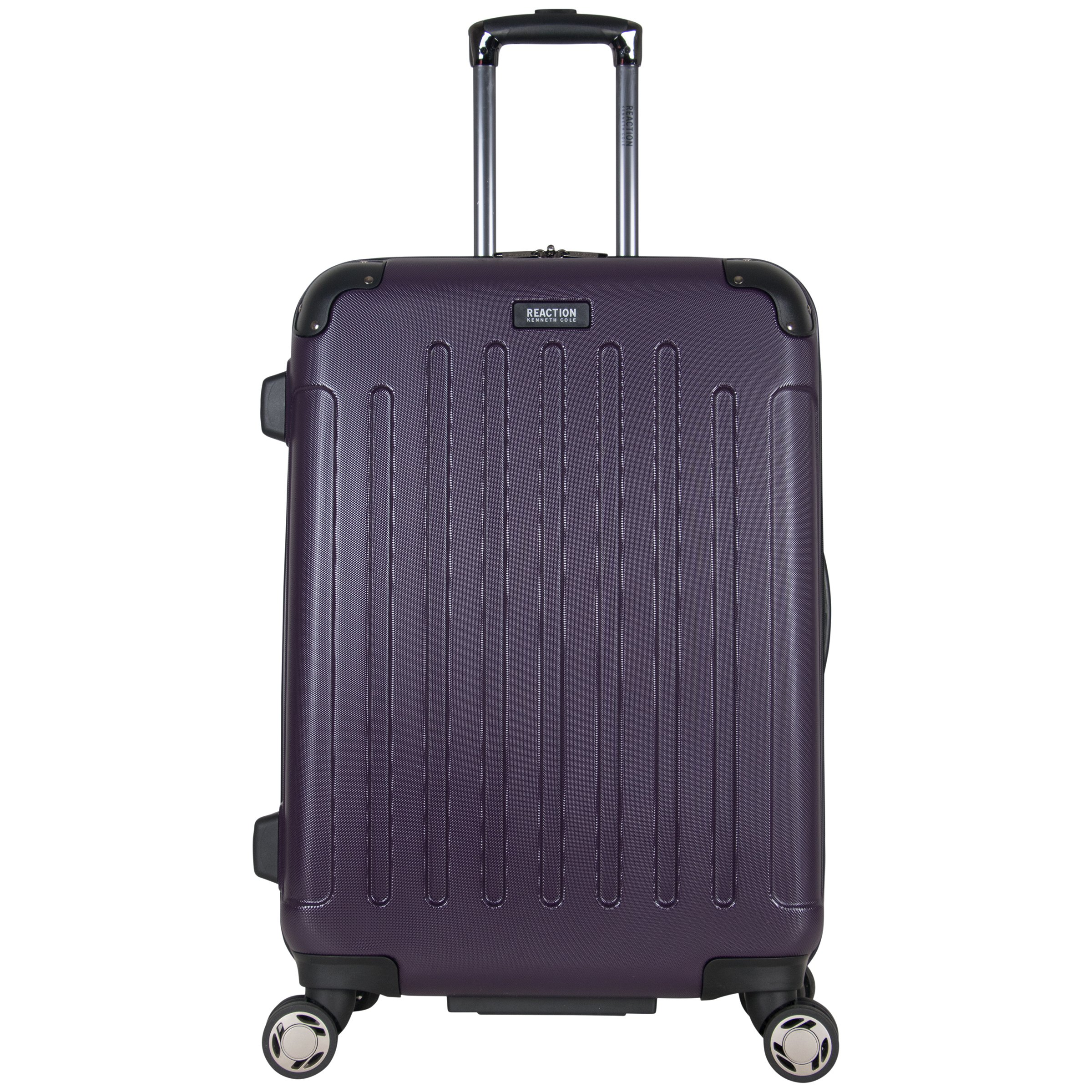 Kenneth Cole Reaction Renegade 24'' Hardside Expandable 8-Wheel Spinner Checked Luggage, Deep Purple