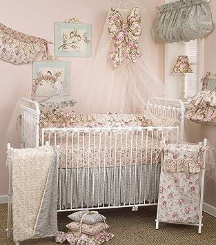 Amazon Com Cotton Tale Designs 8 Piece Crib Bedding Set Tea Party Black White Pink Green Baby