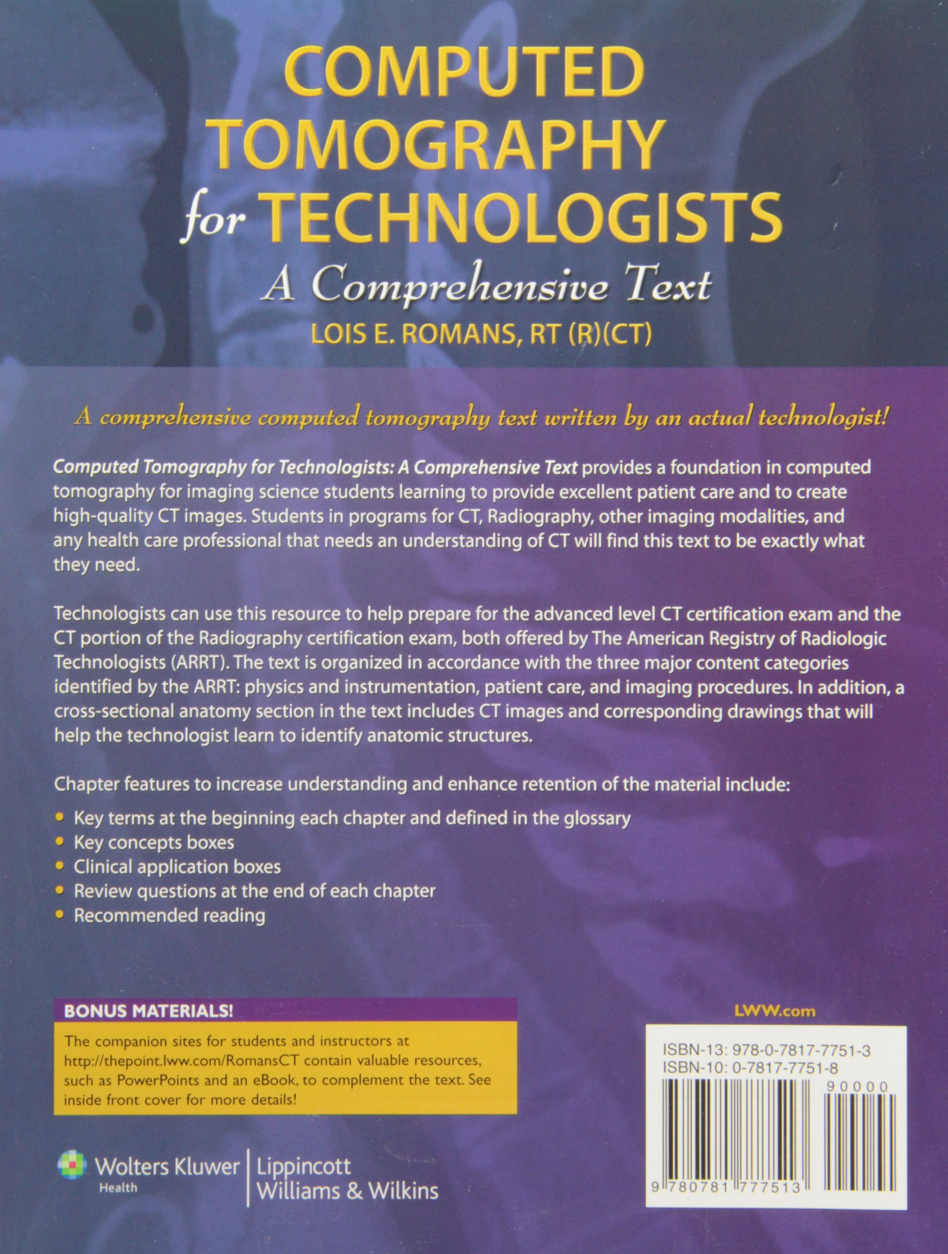 Computed Tomography For Technologists A Comprehensive Text Amazonde Lois E Romans Fremdsprachige Bucher