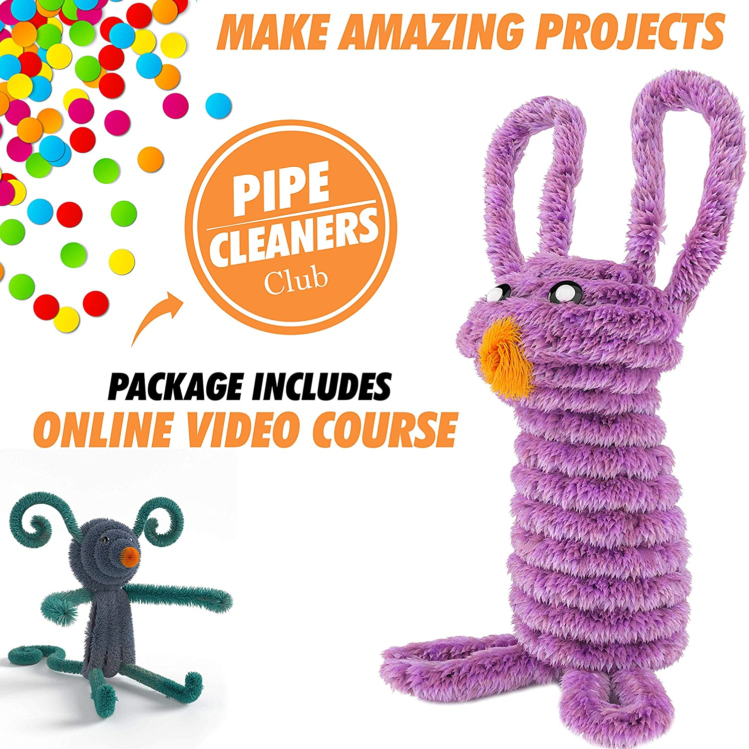 Fun DIY Art 6 mm x 12 inch Pipe Cleaners 30 Assorted Colors Pipe Cleaners for Decorations and Creative Crafts 350 pcs Chenille Stems for DIY Art