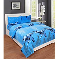 Weave Well Premium Multicolor Printed Double Bedsheet with Two Pillow Covers