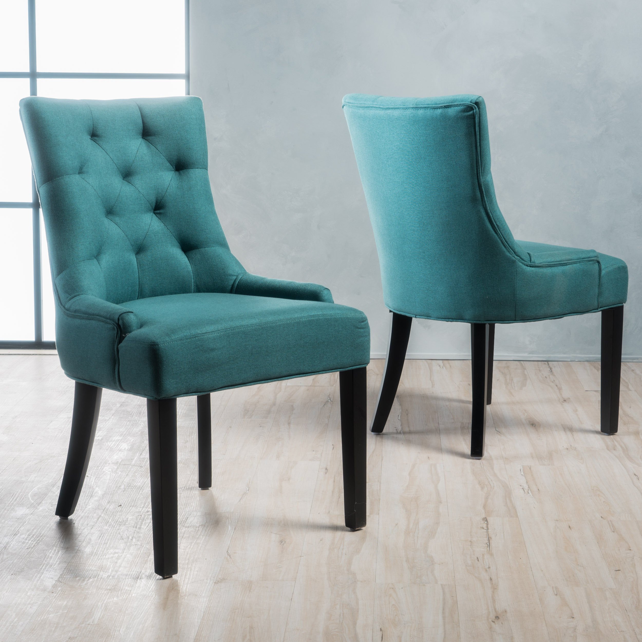 Christopher Knight Home 299537 Hayden Fabric Dining Chairs (Set of 2) Dark Teal by Christopher Knight Home (Image #2)