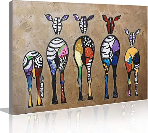 Ivy s 24×36 inch 3D Oil Painting on Canvas, Animal Hand Painted Oil Paintings Horse Wall Art Pictures for Living Room Bedroom Dinning Room Home Decor