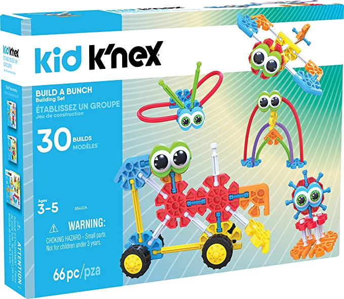 KID K'NEX – Build A Bunch Set – 66 Pieces – For Ages 3+ Construction Educational Toy (Amazon Exclusive)