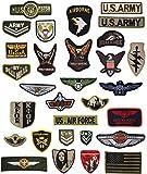 JINSELF ミリタリーワッペン 30枚セット 米国 陸軍 空軍 ALL
