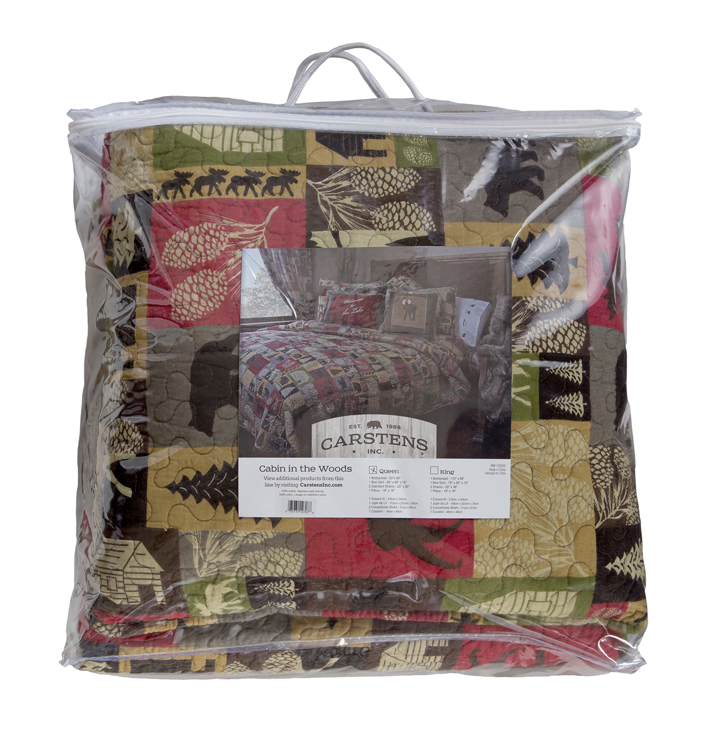 Carstens Cabin in The Woods 5 Piece Cotton Printed Quilt Bedding Set, Queen by Carstens (Image #8)
