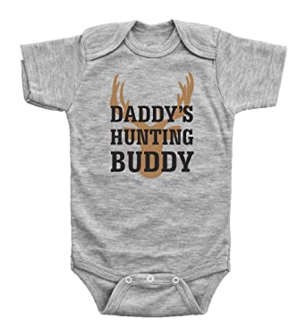 2468a6d2b Baffle Baby / Daddy's Hunting Buddy / Funny Outdoor Clothing for Babies  Unisex (Newborn,