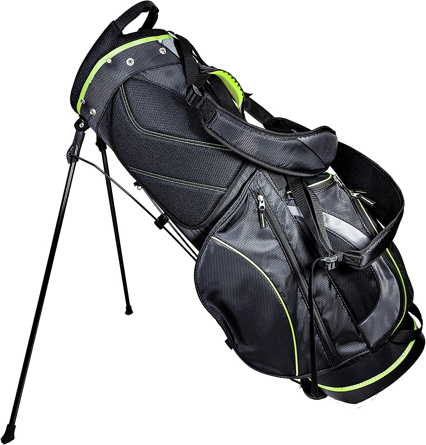Club Champ Deluxe Stand Golf Bag, Black/Green : Sports & Outdoors