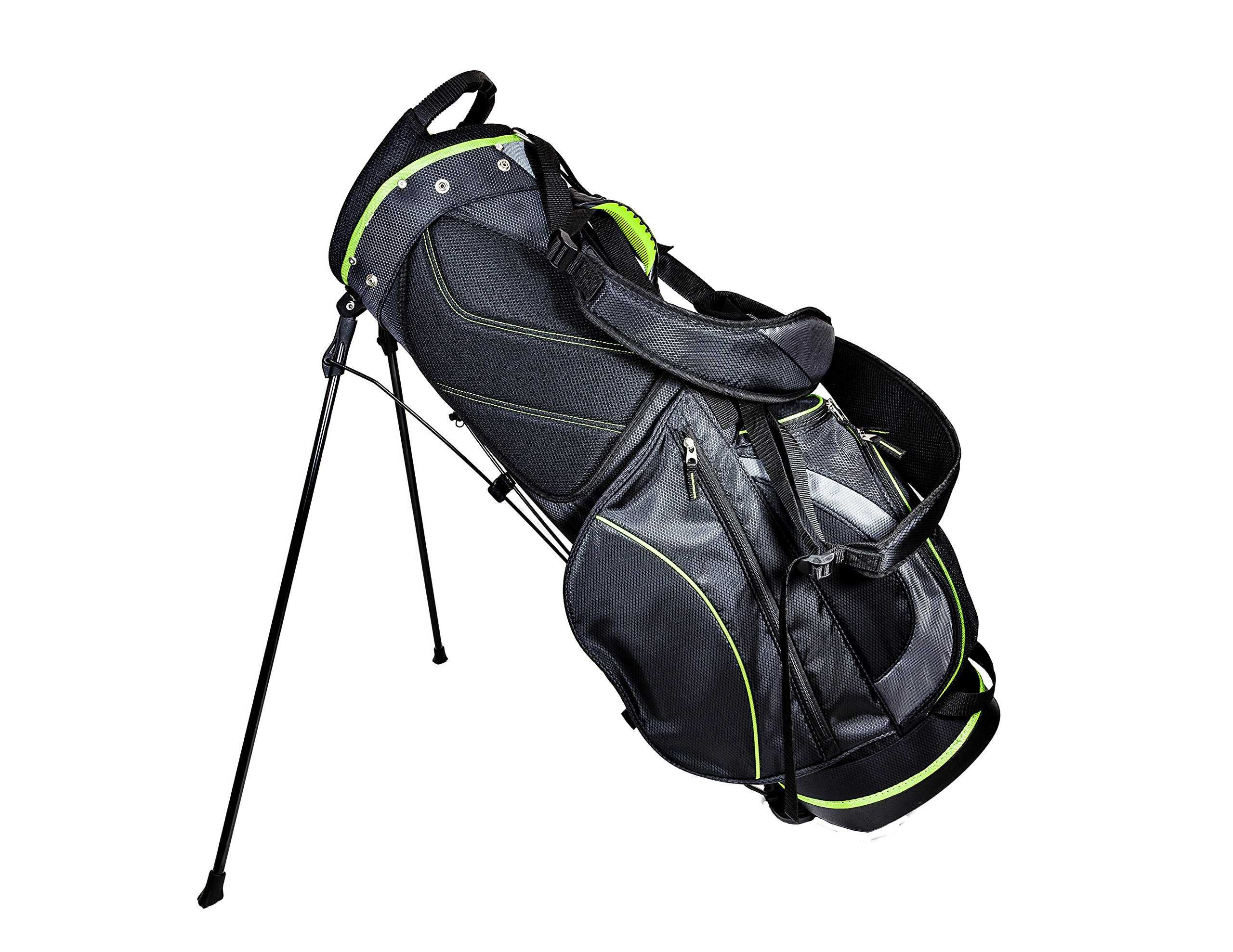 Club Champ Deluxe Stand Golf Bag, Black/Green by Club Champ