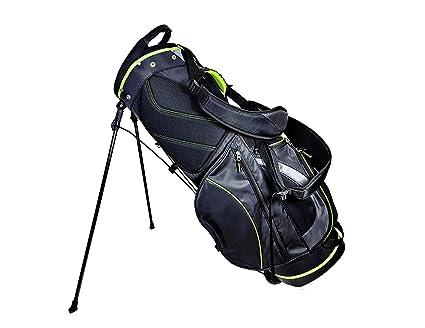 596667483e Amazon.com : Club Champ Deluxe Stand Golf Bag, Black/Green : Sports ...