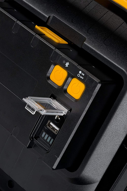 Brennenstuhl foco LED BLUMO de 20 W a bater/ía recargable intercambiable con altavoces Bluetooth 2100 lm, 6500K, luz de trabajo port/átil, iluminaci/ón regulable en 3 modos, resistente al agua, IP54