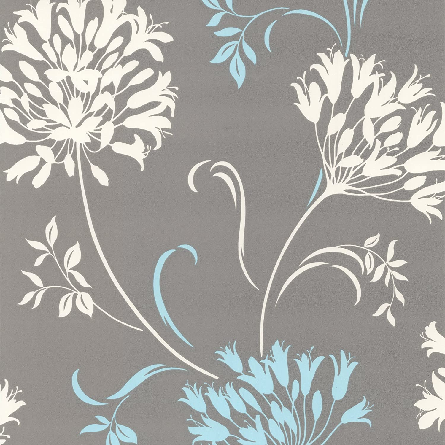 Decorline Dl30458 Nerida Light Grey Floral Silhouette Wallpaper
