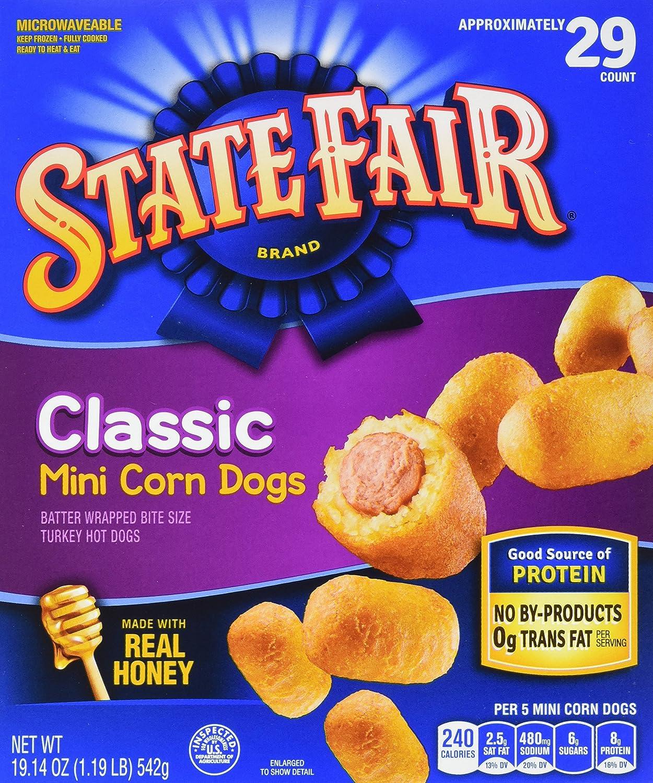 State Fair Mini Corn Dogs Classic 29 Ct Frozen Amazon