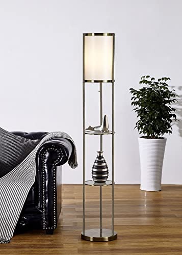 Artiva USA A21040FAB Exeter Shelf Floor Lamp