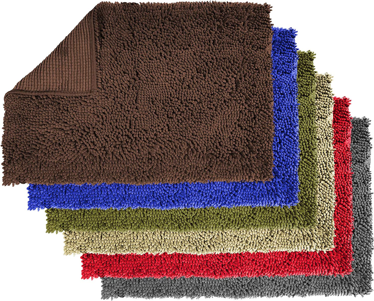 Enthusiast Gear Dog Mud Door Mat Ultra Absorbent Microfiber Chenille Non Slip Doormat Dog Bowl Floor Mat Crate Rug No More Dirty Dogs With Muddy Paws Washable