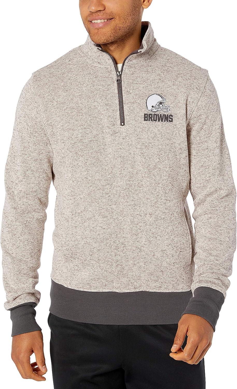 NFL Mens OTS Anchorage 1//4-Zip Pullover