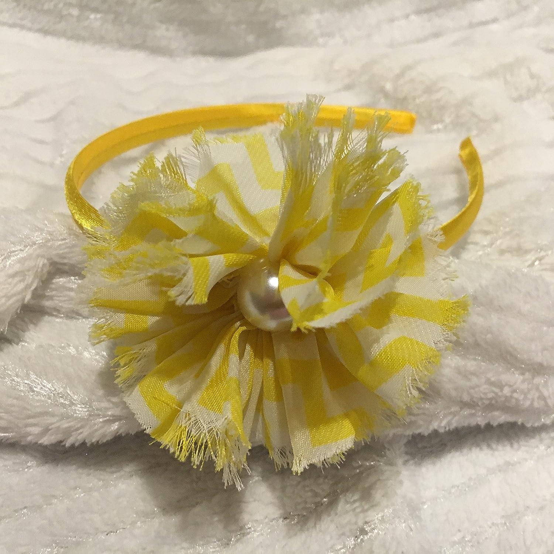 Amazon Yellow Headband Flower Headband Ribbon Headband