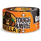 "Gorilla Tape, Black Tough & Wide Duct Tape, 2.88"" x 30 yd, Black, (Pack of 1)"