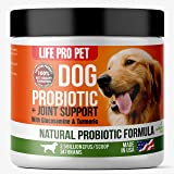Glucosamine For Dogs With Turmeric & Dog Probiotics Powder - All In One Dog Supplement For Digestion, Joint & Hip Support - 247 Grams - Over 500 Servings Per Jar - 2.5 Billion CFU's Per Serving