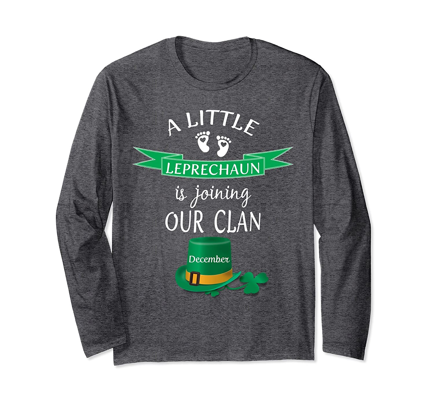 d9c09dbf St. Patrick's Day Pregnancy Announcement Shirt December-ah my shirt one gift